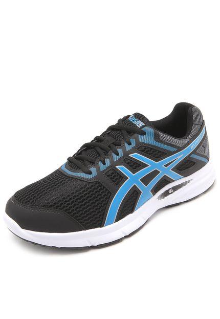b63f1ce76e6d4 Tênis Asics Gel-Excite 5 Preto e Azul - Original - Titanes Esportes