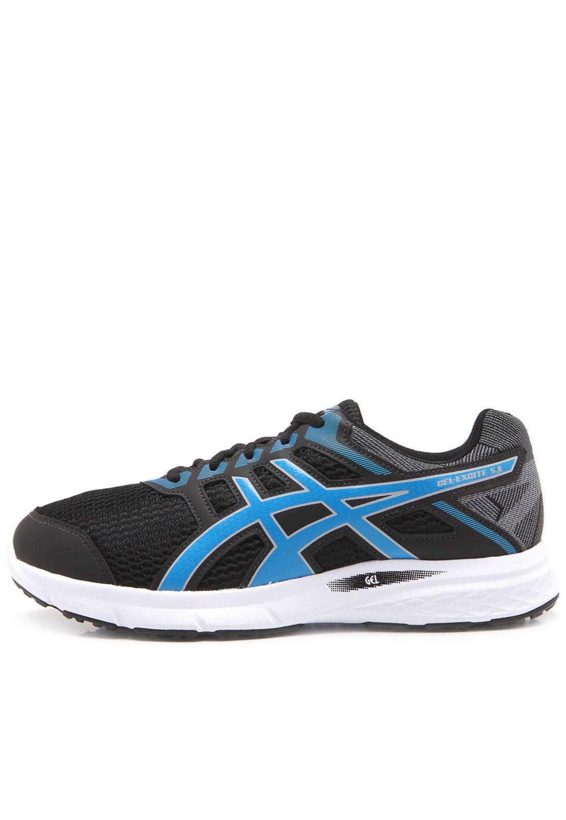 161c5634db4 Tênis Asics Gel-Excite 5 Preto e Azul - Original - Titanes Esportes
