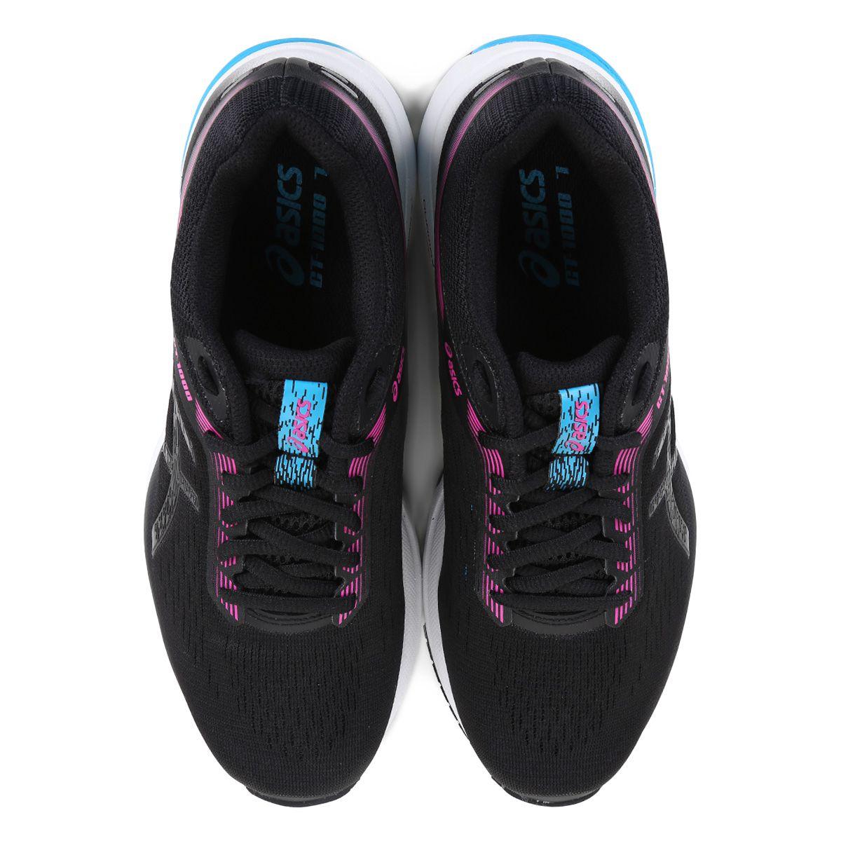 Tênis Asics GT 1000 7 Feminino - Preto e Pink