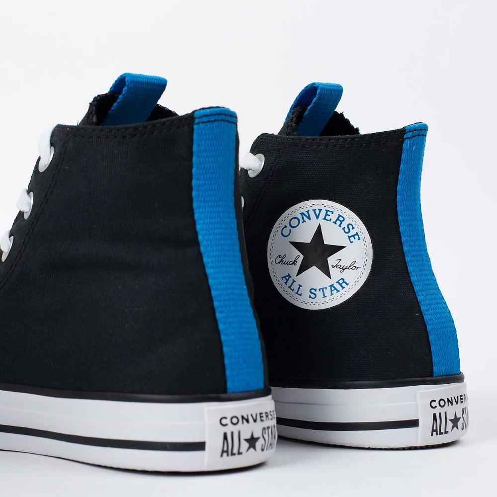 Tênis Cano Alto Converse All Star Chuck Taylor - Preto/Azul