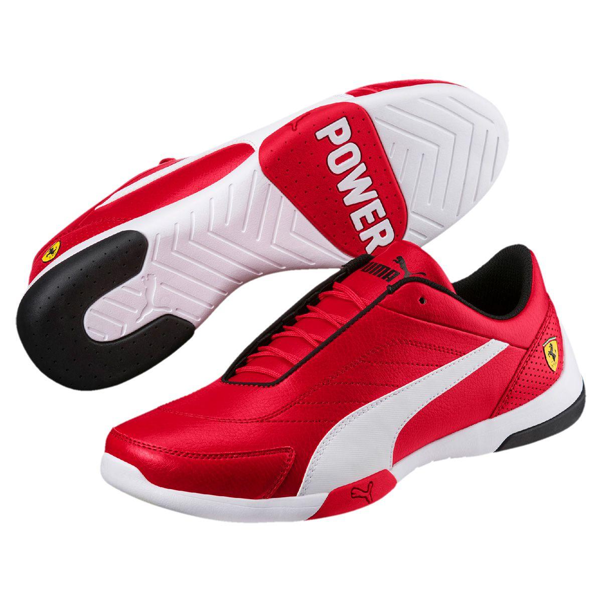 558c3746acd10 Tênis Puma Scuderia Ferrari Kart Cat III - Vermelho e Branco - Titanes  Esportes