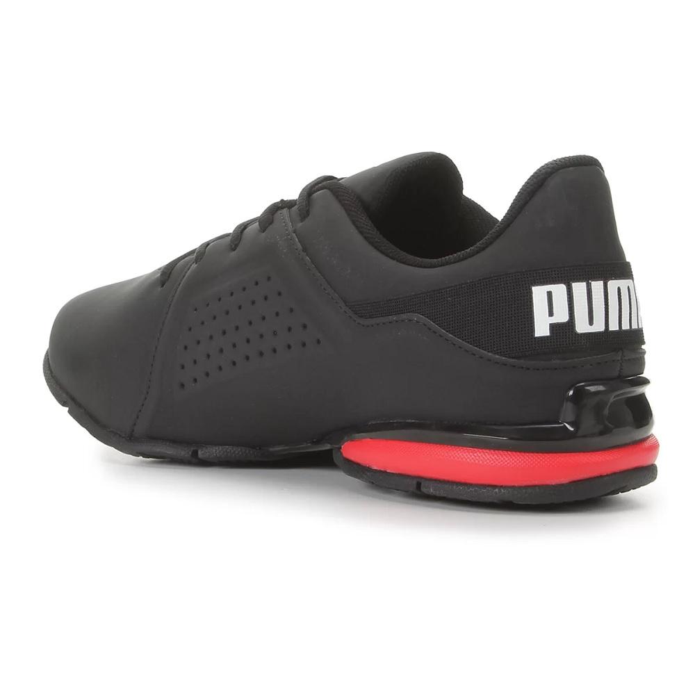 Tênis Puma Viz Runner BDP - Preto/ Vermelho