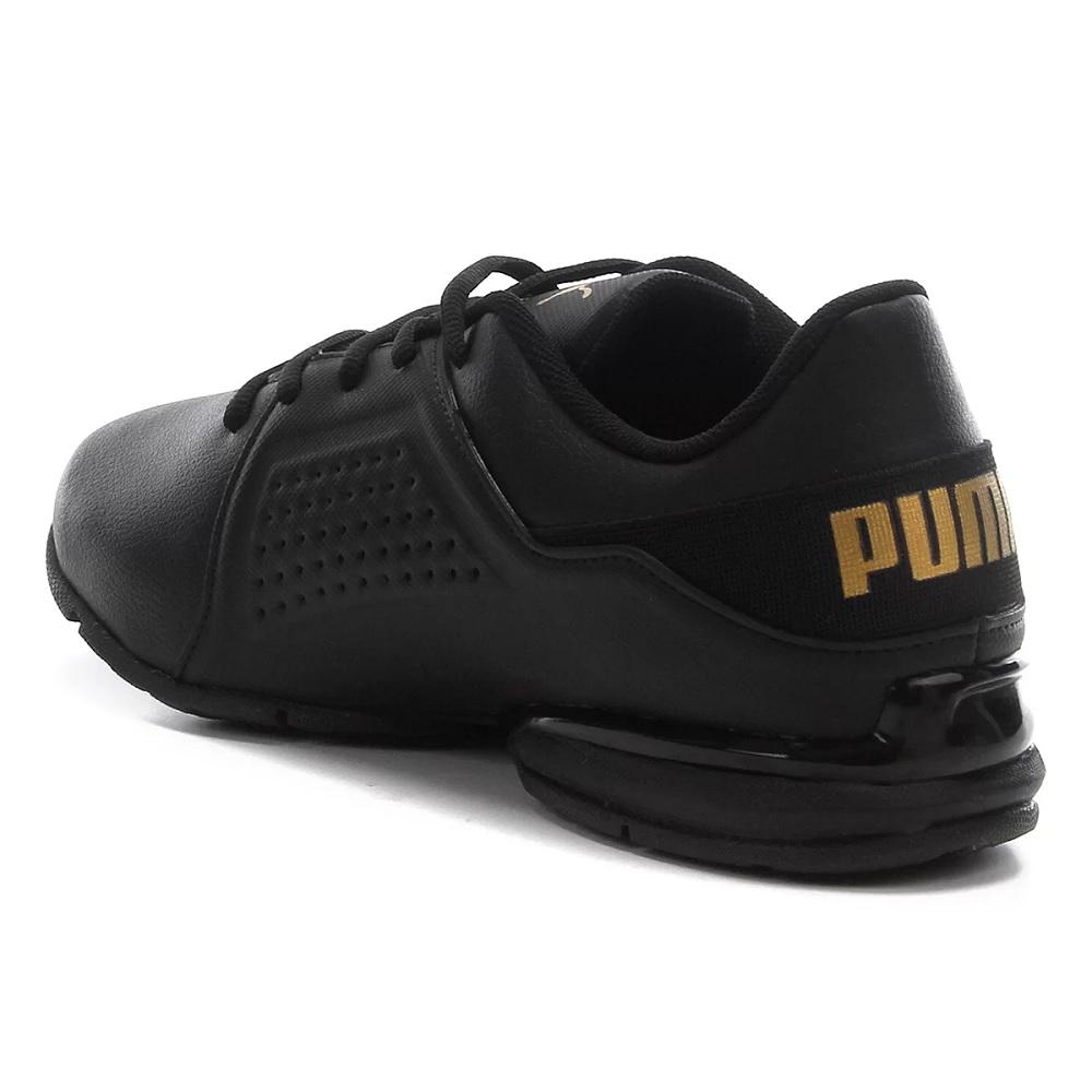 Tênis Puma Viz Runner NM BDP - Preto/ Dourado