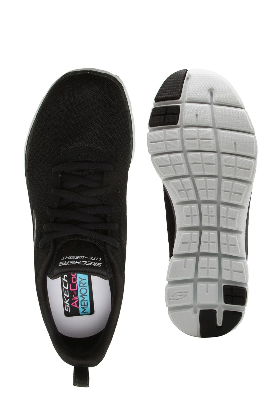 50fcaa9158 Tênis Skechers Flex Appeal 2.0 Feminino - black - Titanes Esportes