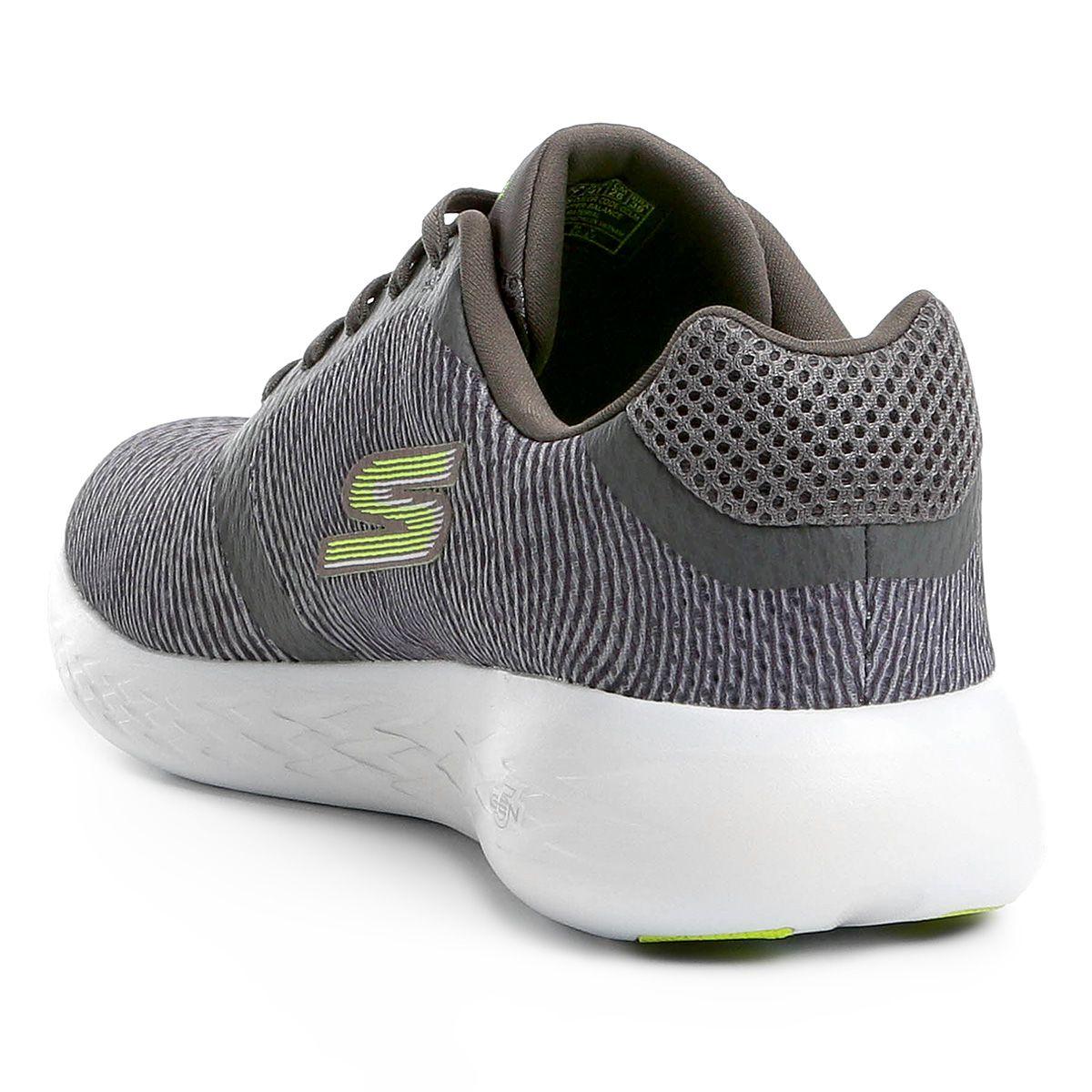 1d97ffa47 Tênis Skechers Go Run 600 Control Masculino - Cinza e Verde - Titanes  Esportes