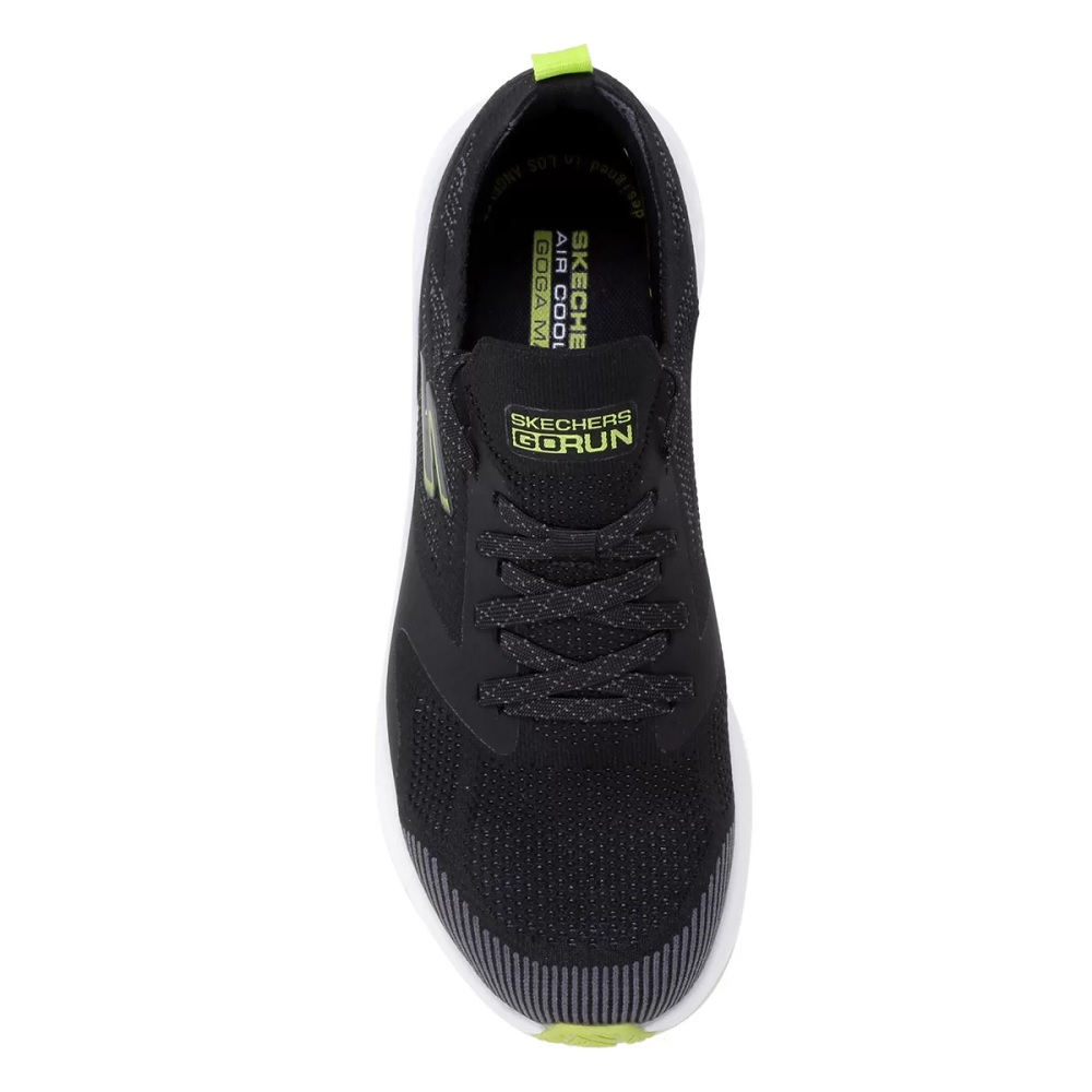 Tênis Skechers Go Run Hyper Burst - Masculino - Preto/verde