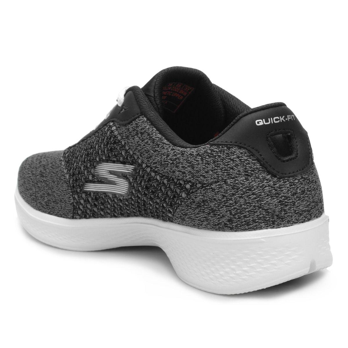 Tênis Skechers Go Walk 4 Exceed Feminino - Preto e Branco