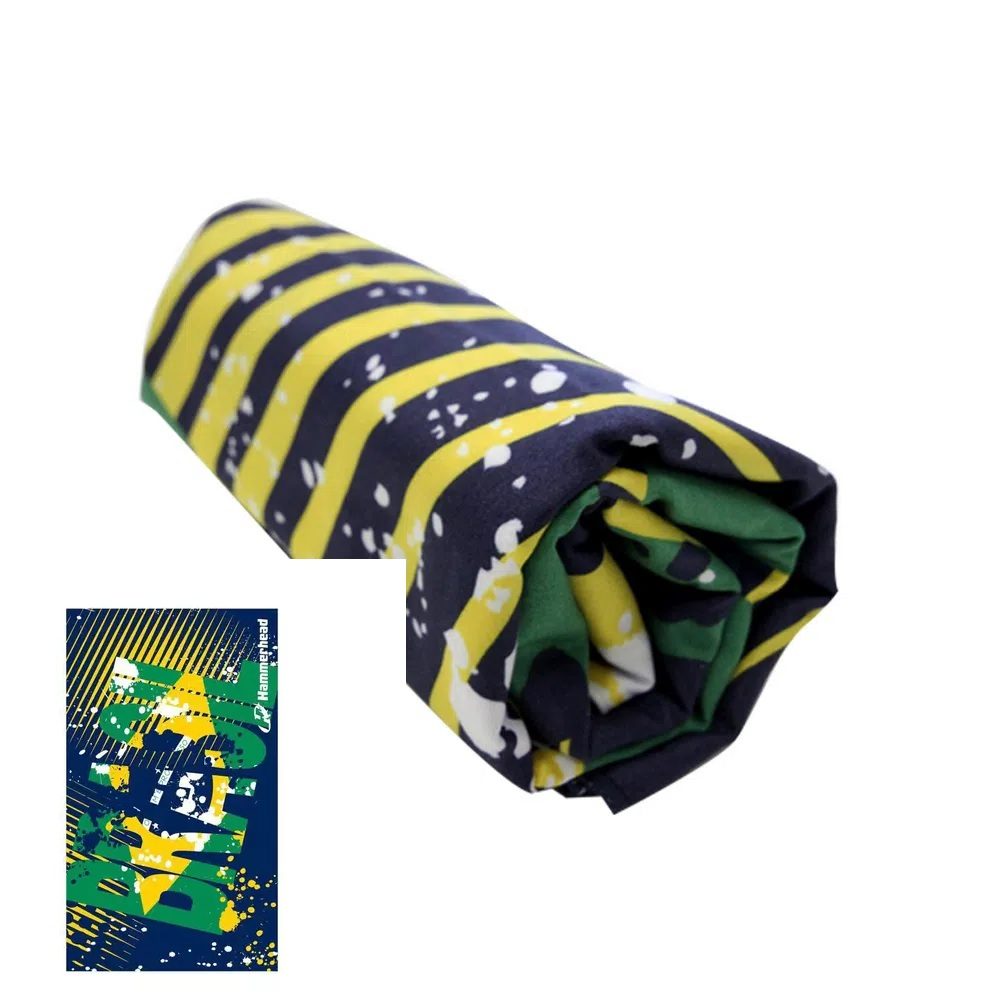 Toalha Esportiva de Microfibra Brasil Hammerhead