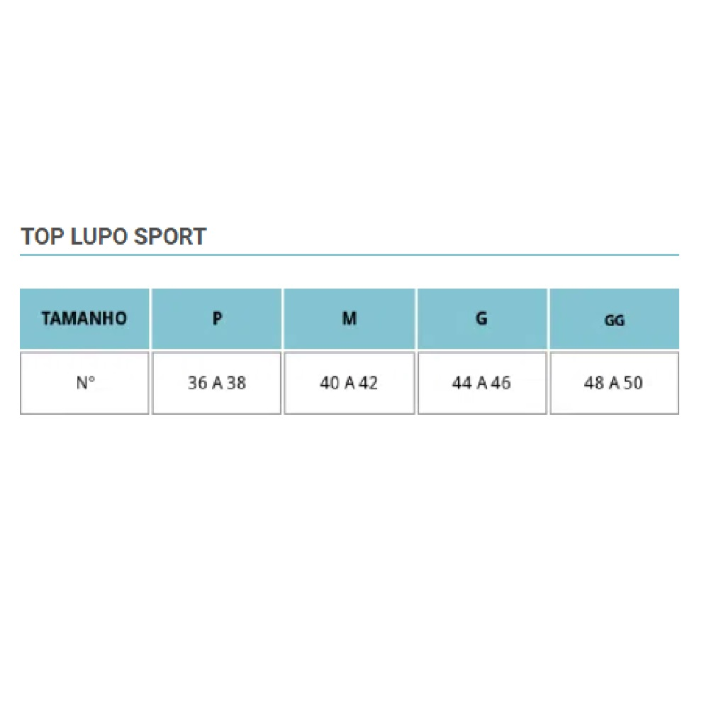Top Lupo Energy Rashel - Preto