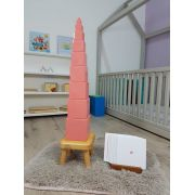 Kit Completo Torre Rosa e Escada Marrom