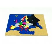 Mapa da Europa quebra cabeça