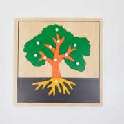 Quebra Cabeça Árvore Botânica Montessori