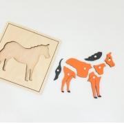 Quebra Cabeça de Animais Cavalo