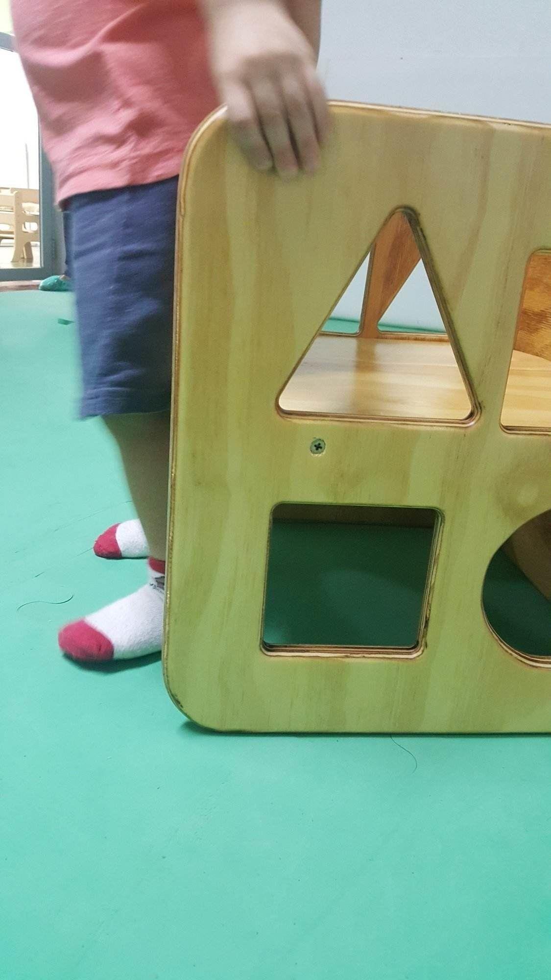 Cadeira Cubo Formas Geométricas