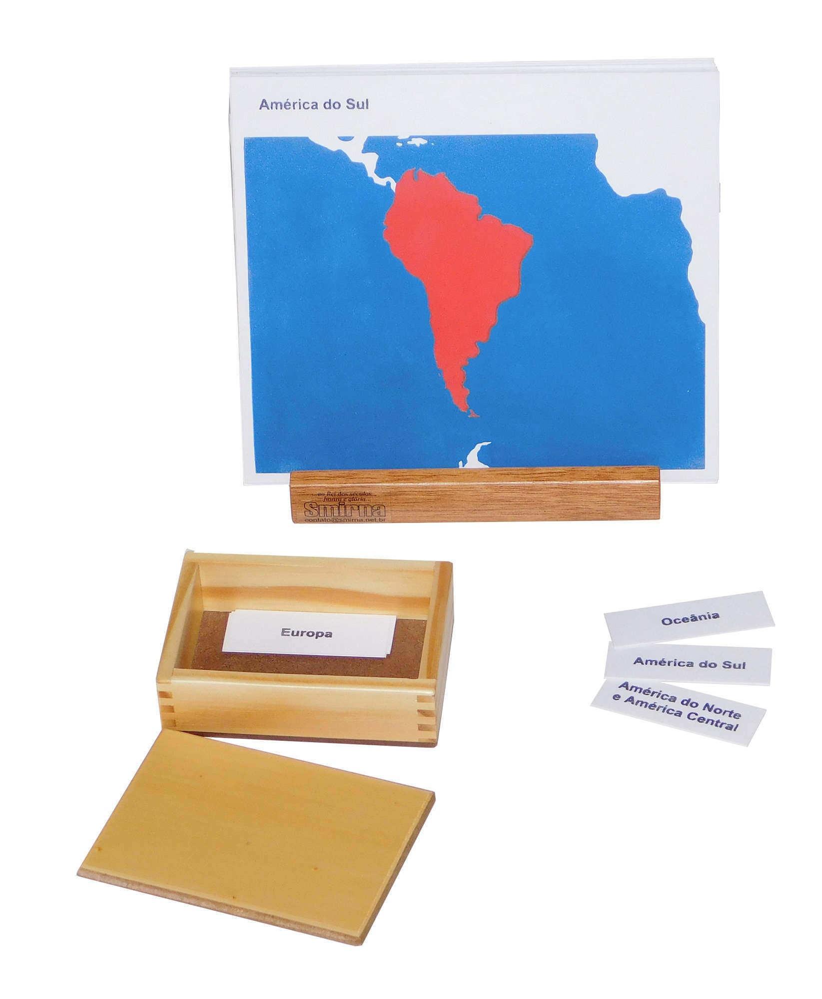 Cartões dos Continentes