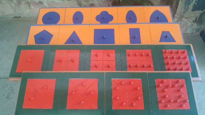 Kit Materiais de Ferro Montessori