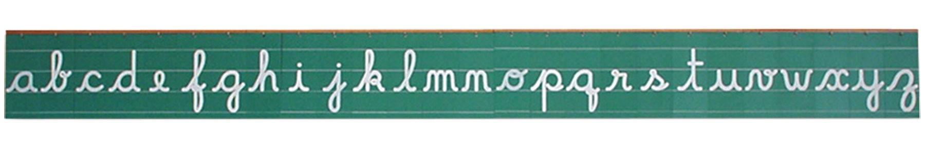 Letras Cursivas do mural
