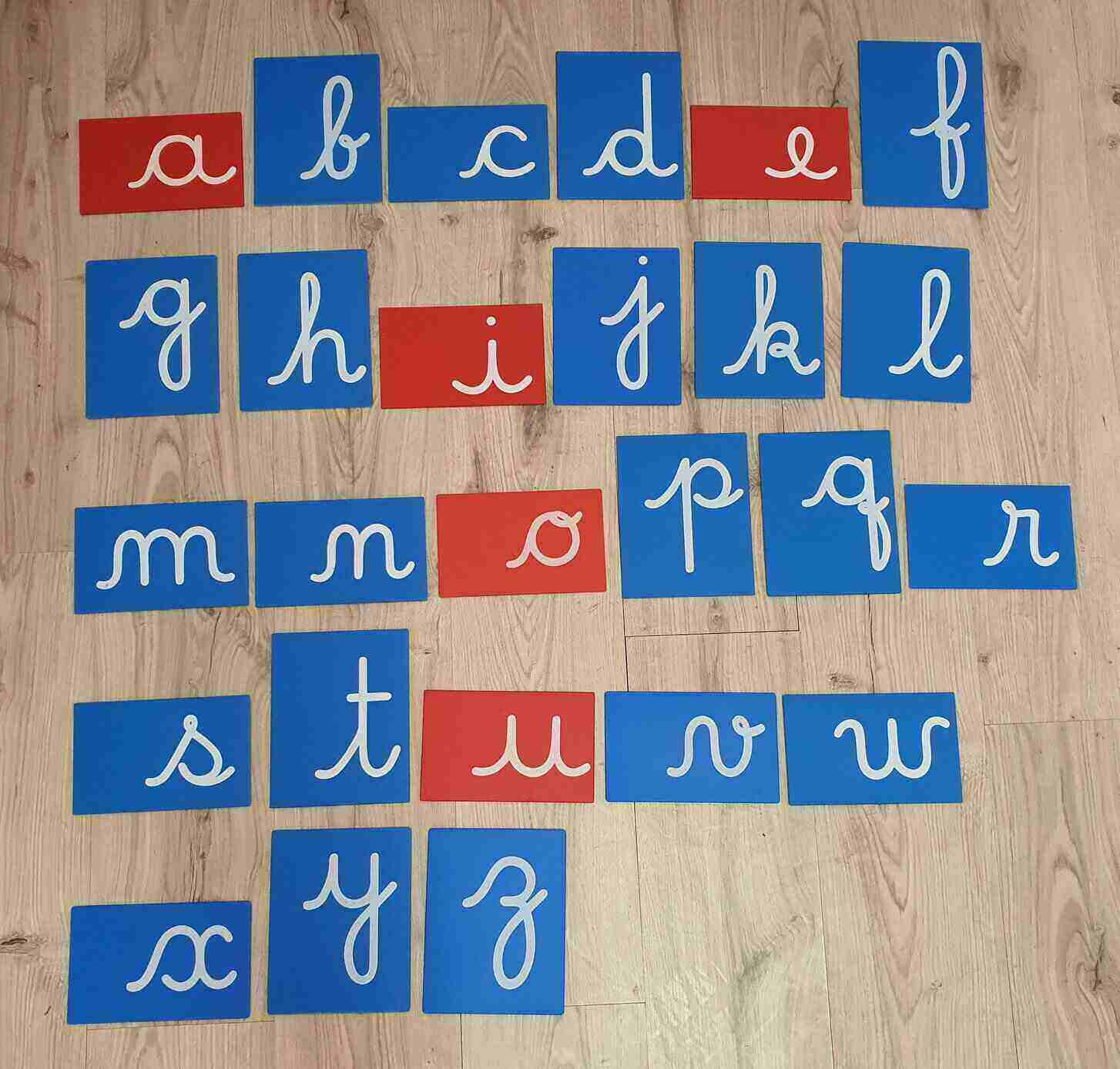 Letras de Lixa Cursivas Minúsculas