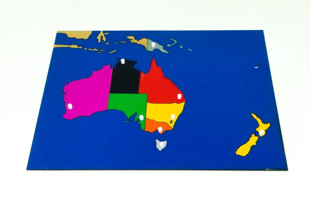 Mapa da Austrália quebra cabeça