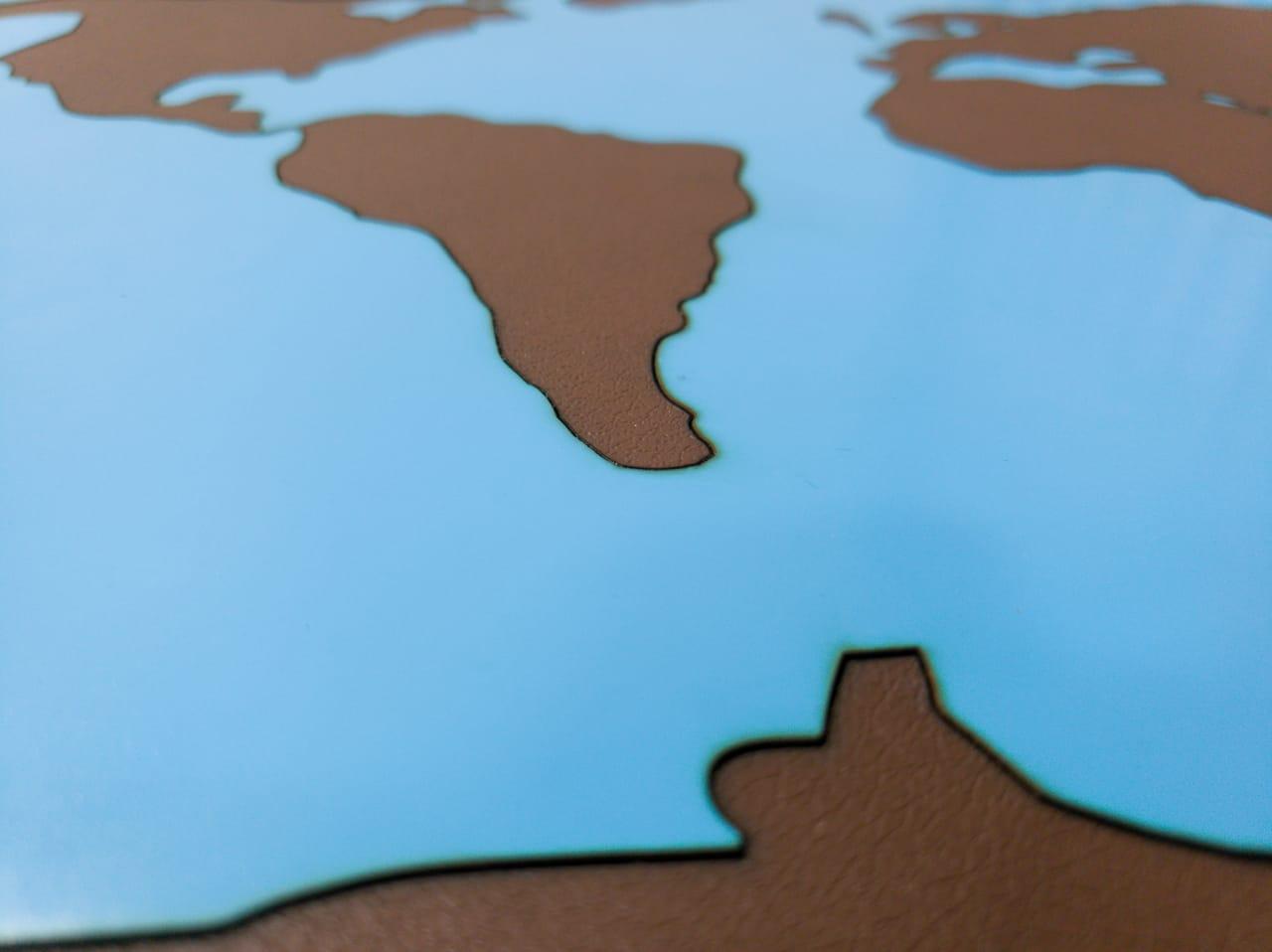 Mapa Mundi Terra e Água Sensorial