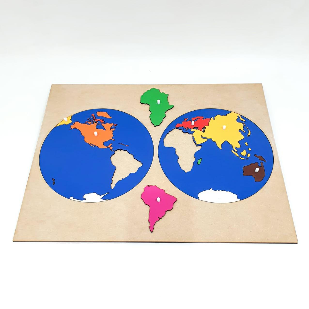 Mapa Quebra Cabeça Planisfério