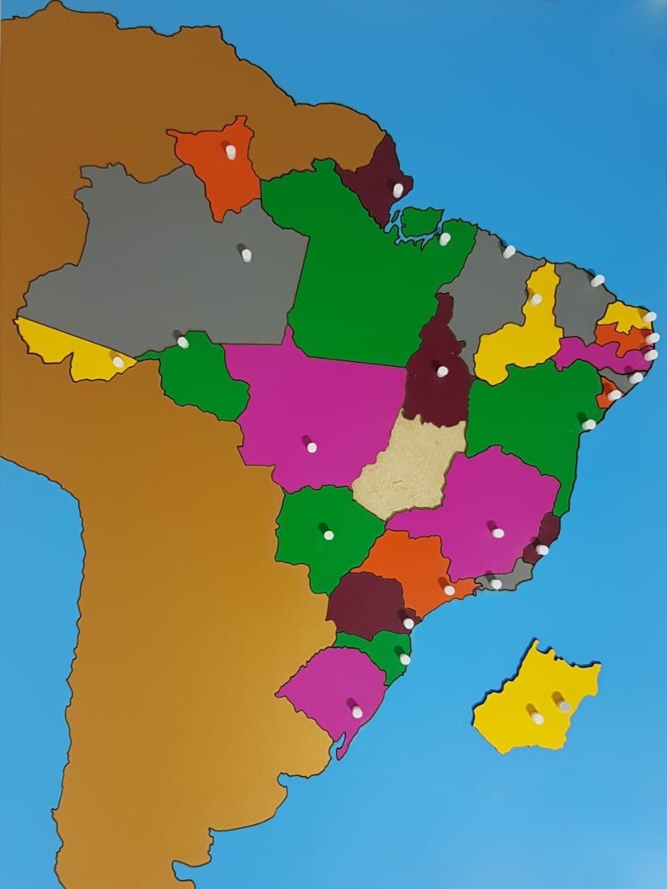 Mapa Quebra Cabeças do Brasil