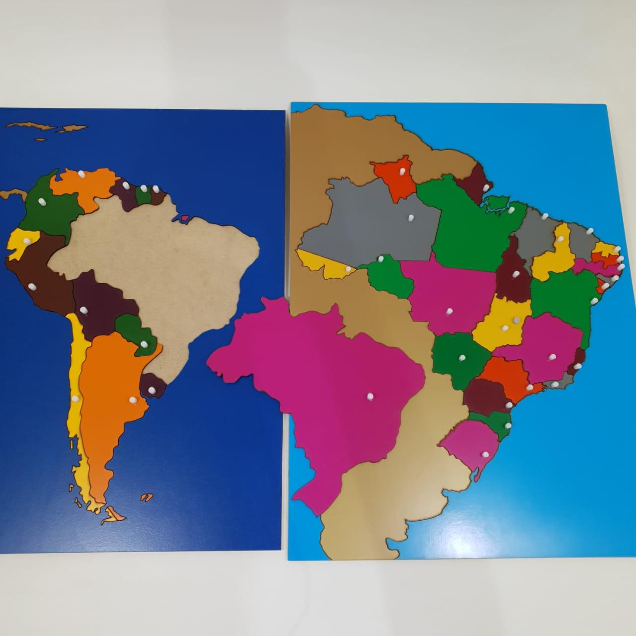 Mapa Quebra Cabeças Montessori