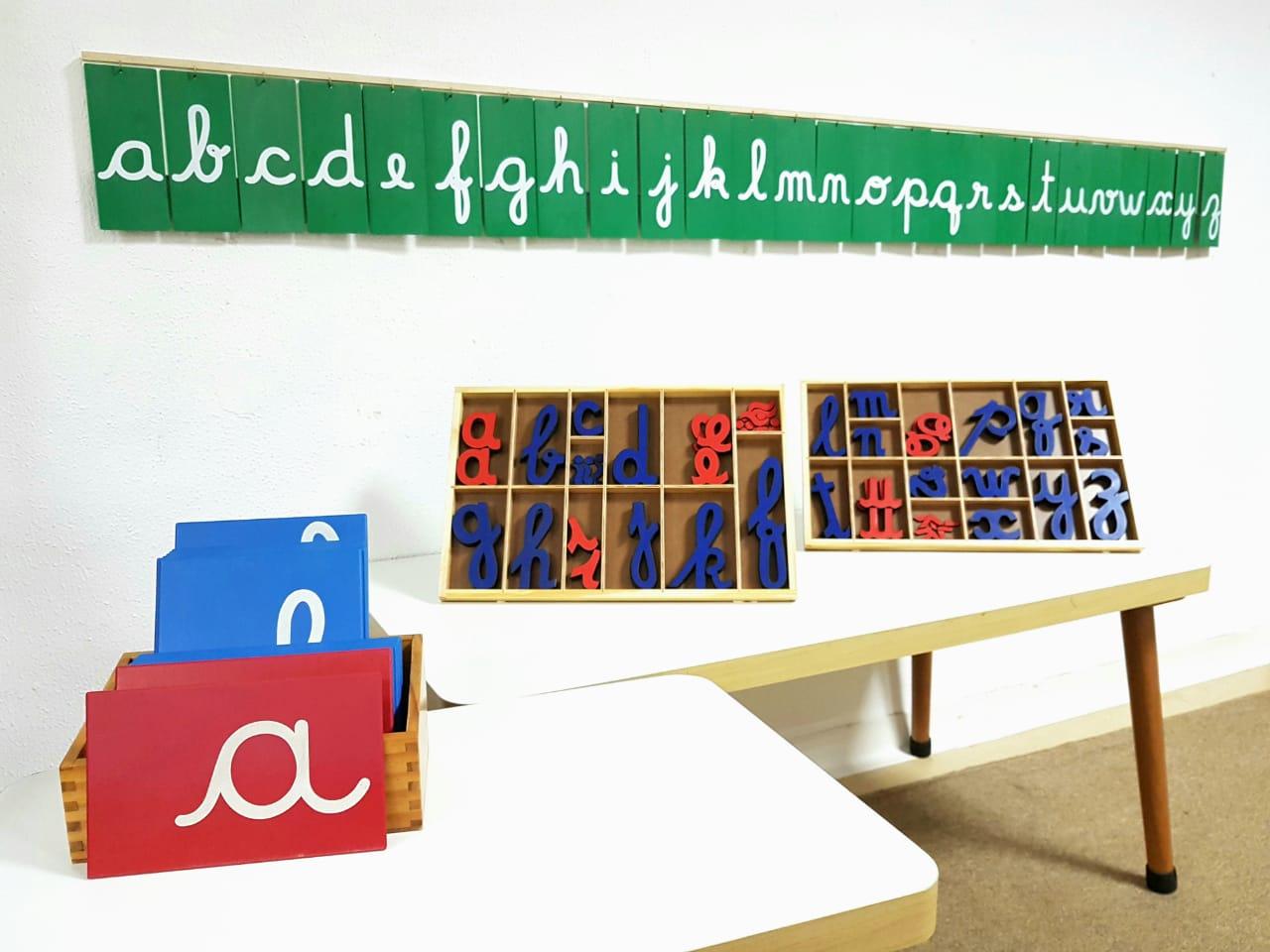 Mural de Letras Cursivas