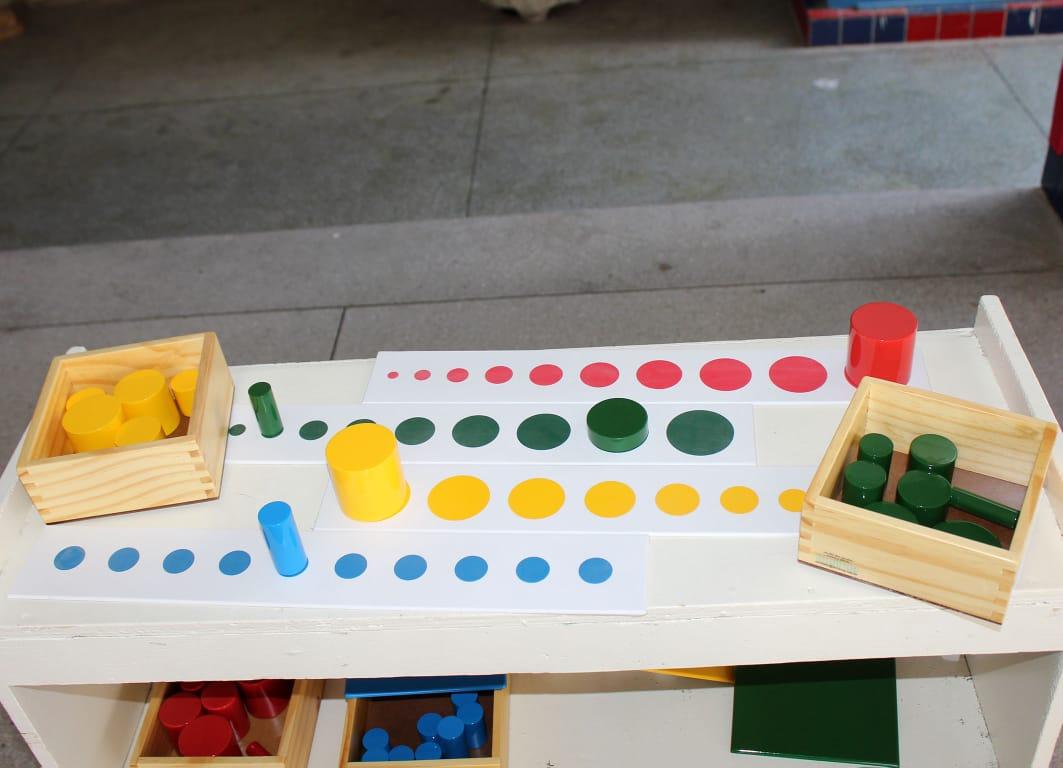 Projeção dos Cilindros Coloridos - 1 cor
