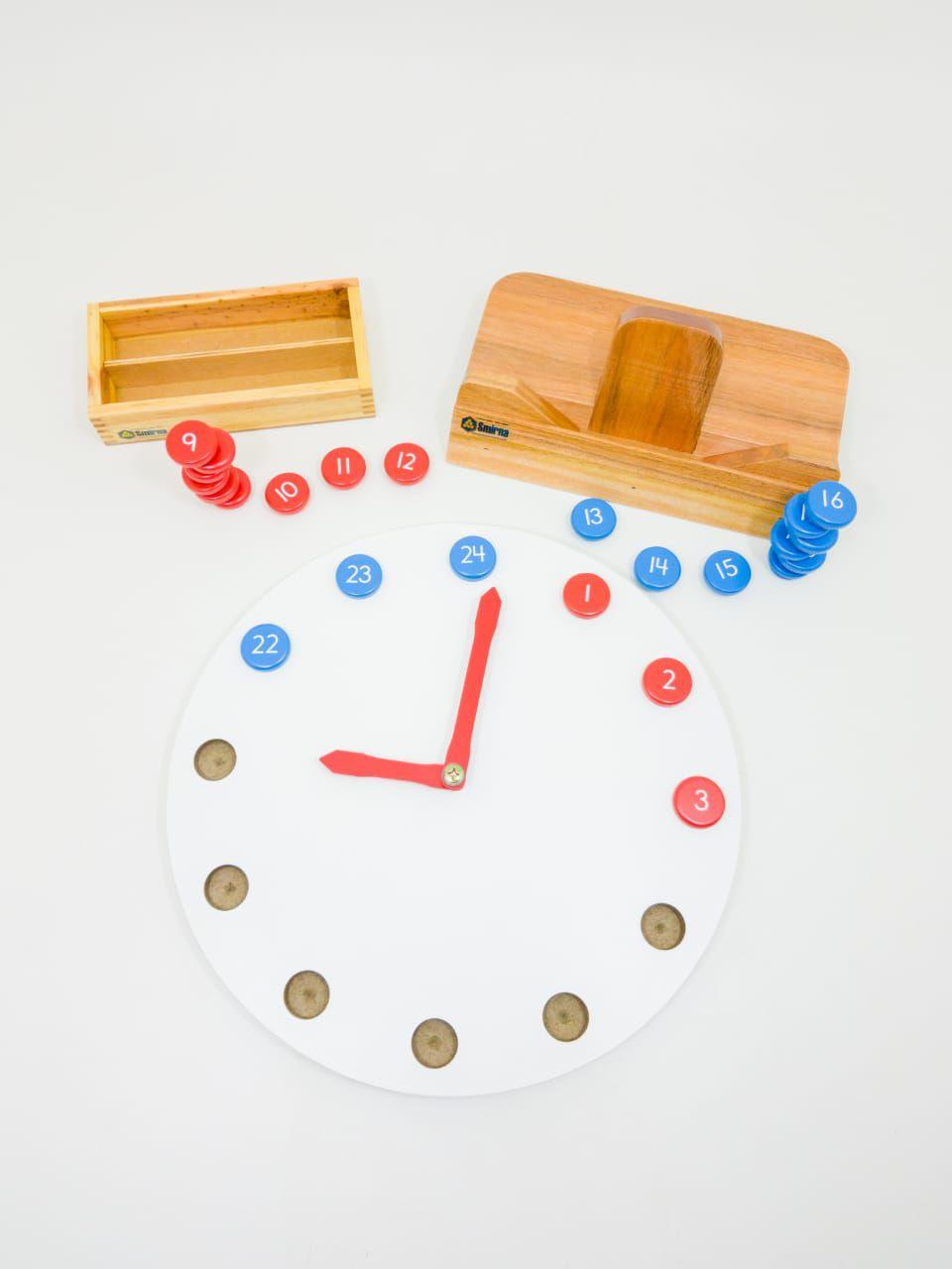 Relógio Montessori de Figuras Móveis