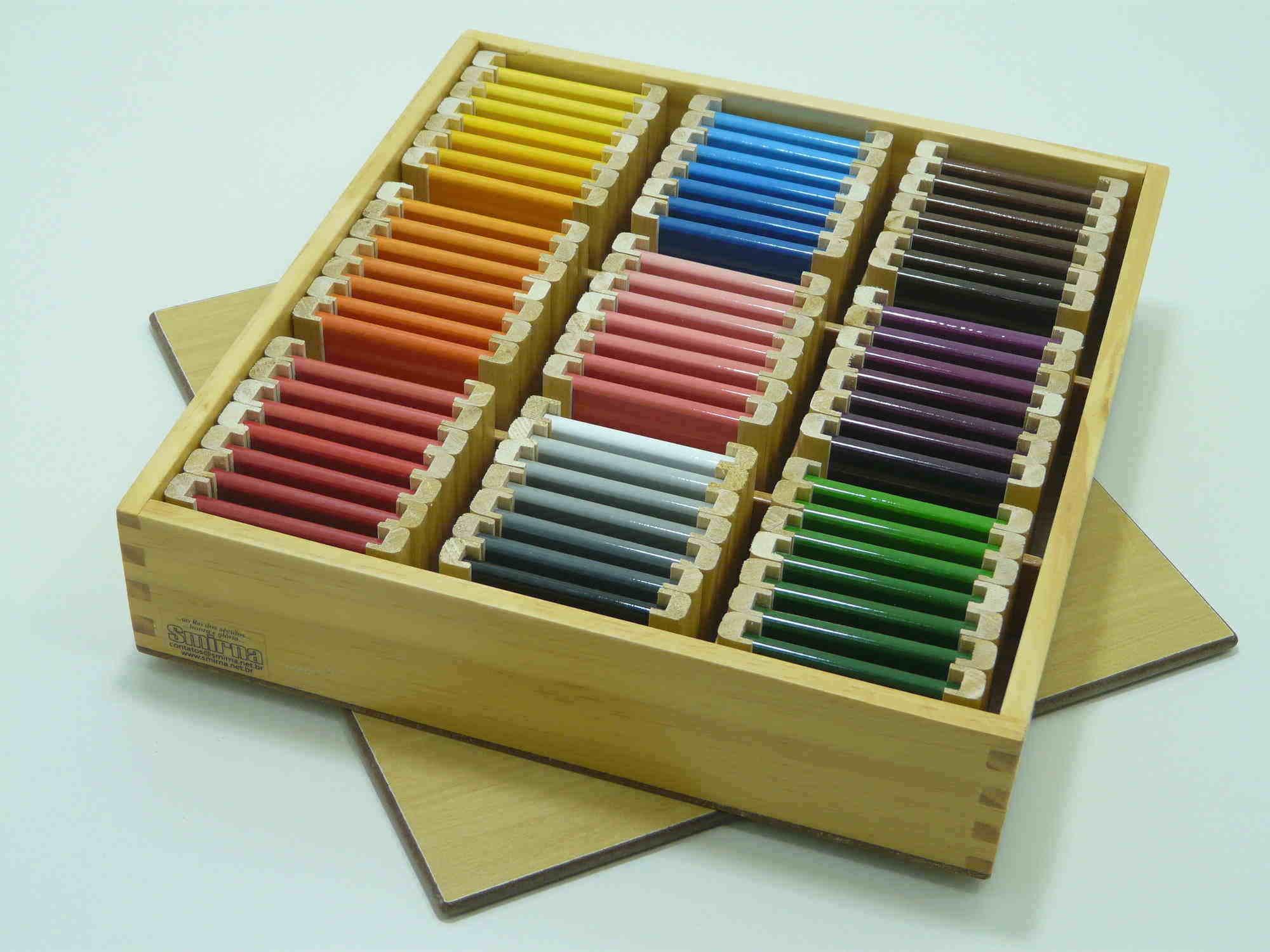 Terceira Caixa de Cores Montessori