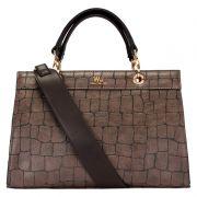 f43e3e8c4 bolsas bolsa satchel grande estruturada marrom ref44408 - Lasenna ...