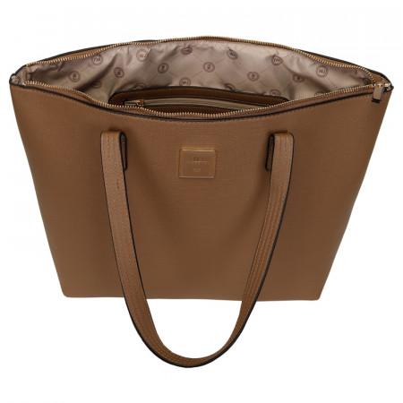 BOLSA SHOPPING BAG MONOCOLOR TAUPE SAFIANO REF:45288T