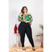 69a2ca5148 Conjunto Plus Size Blusa Calça Roupas Feminina moda P Gordinhas ...