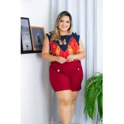 345508648 Conjunto Plus Size Blusa e Short Moda femininas Roupas Plus Size