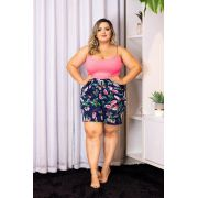 ea7645592 Conjunto Plus Bary Body + Short Roupas Femininas Lindas - Bellucy Modas