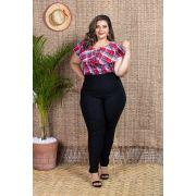 733d4cea93 Conjunto Plus Size Calça e Blusa Quadriculada Roupas Femininas