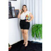 82b92d358 Conjunto Plus Size Short e BlusaEstampada Roupa femininas