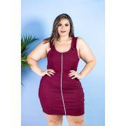 6cf8637f42 Vestido Plus Size Femenino Ziper Lindo Moda GG Roupas Femininas ...