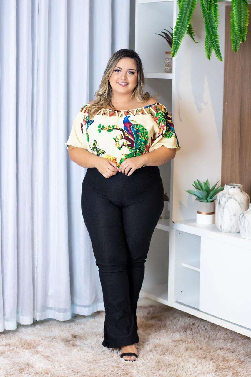a24e14d57 Conjunto Plus Size Blusa e Calça Moda Roupas Femininas - Bellucy Modas