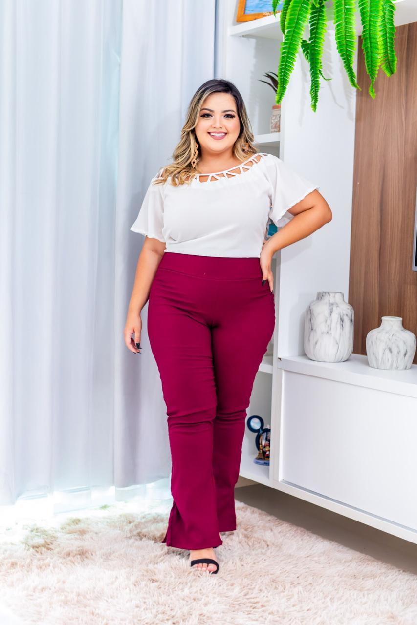 34f55833a Conjunto Plus Size Calça Blusa Lindo Moda Roupas Femininas - Bellucy ...