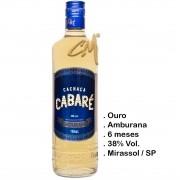 Cachaça Cabaré Amburana 700 ml (Mirassol/SP)