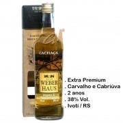 Cachaça Weber Haus Premium Carvalho e Cabriúva 700 ml c/ Box (Ivoti - RS)