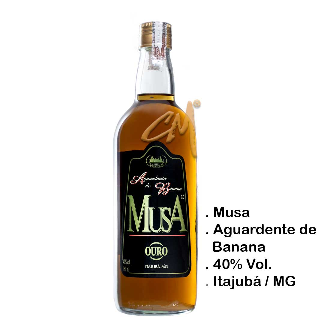 Aguardente de Banana Musa Ouro 750 ml (Itajubá - MG)