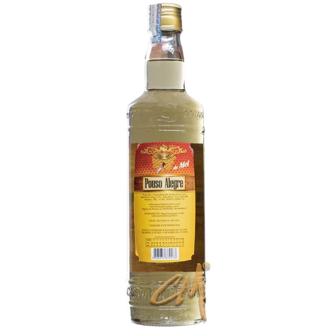 Aguardente de Mel Pouso Alegre 670 ml (Dionísio - MG)