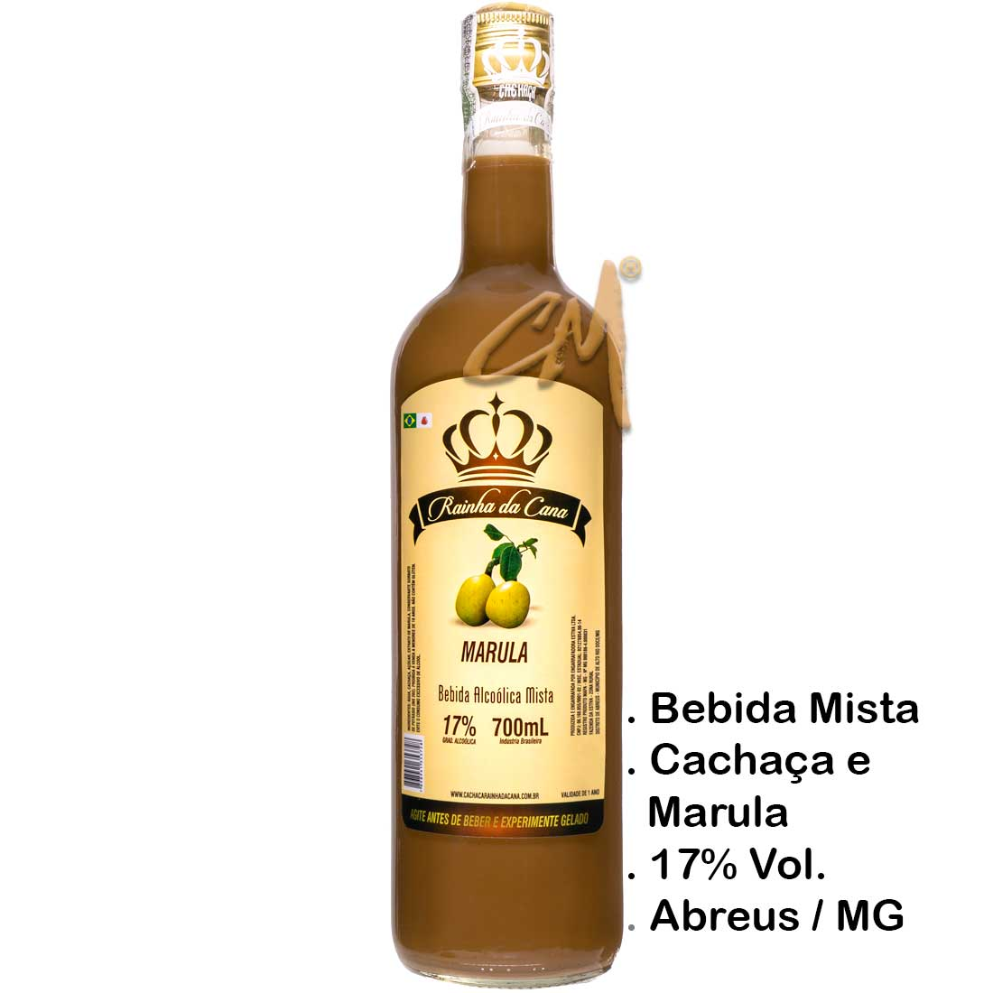 Bebida Mista Cachaça Rainha da Cana Marula 700 ml (Alto Rio Doce - MG)