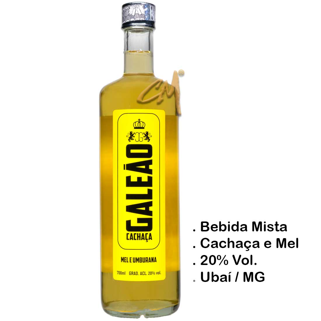 Bebida Mista Galeão - Mel e Amburana - 700 ml (Ubaí-MG)