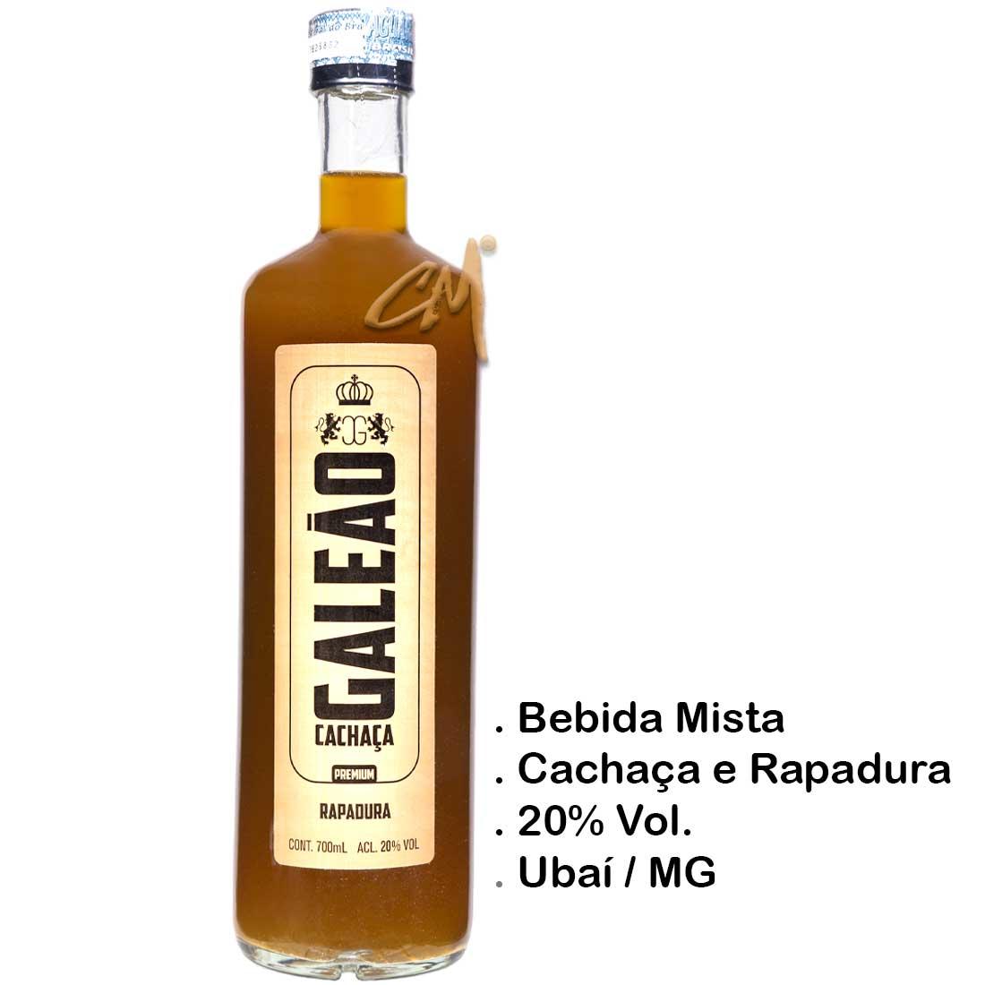 Bebida Mista Galeão - Rapadura - 700 ml (Ubaí-MG)