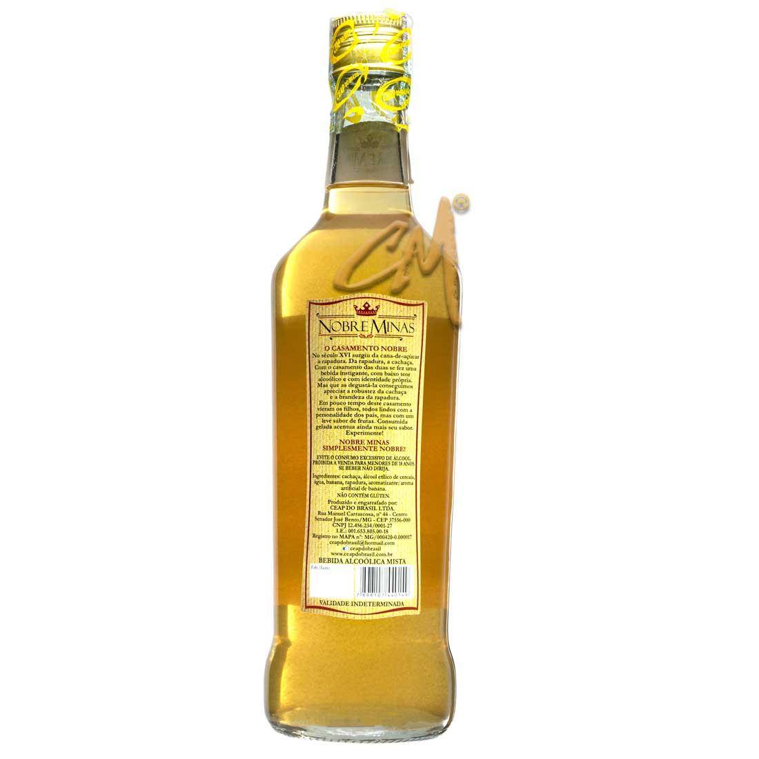 Bebida Mista Rapadura Banana Nobre Minas 670 ml (Sen. José Bento - MG)