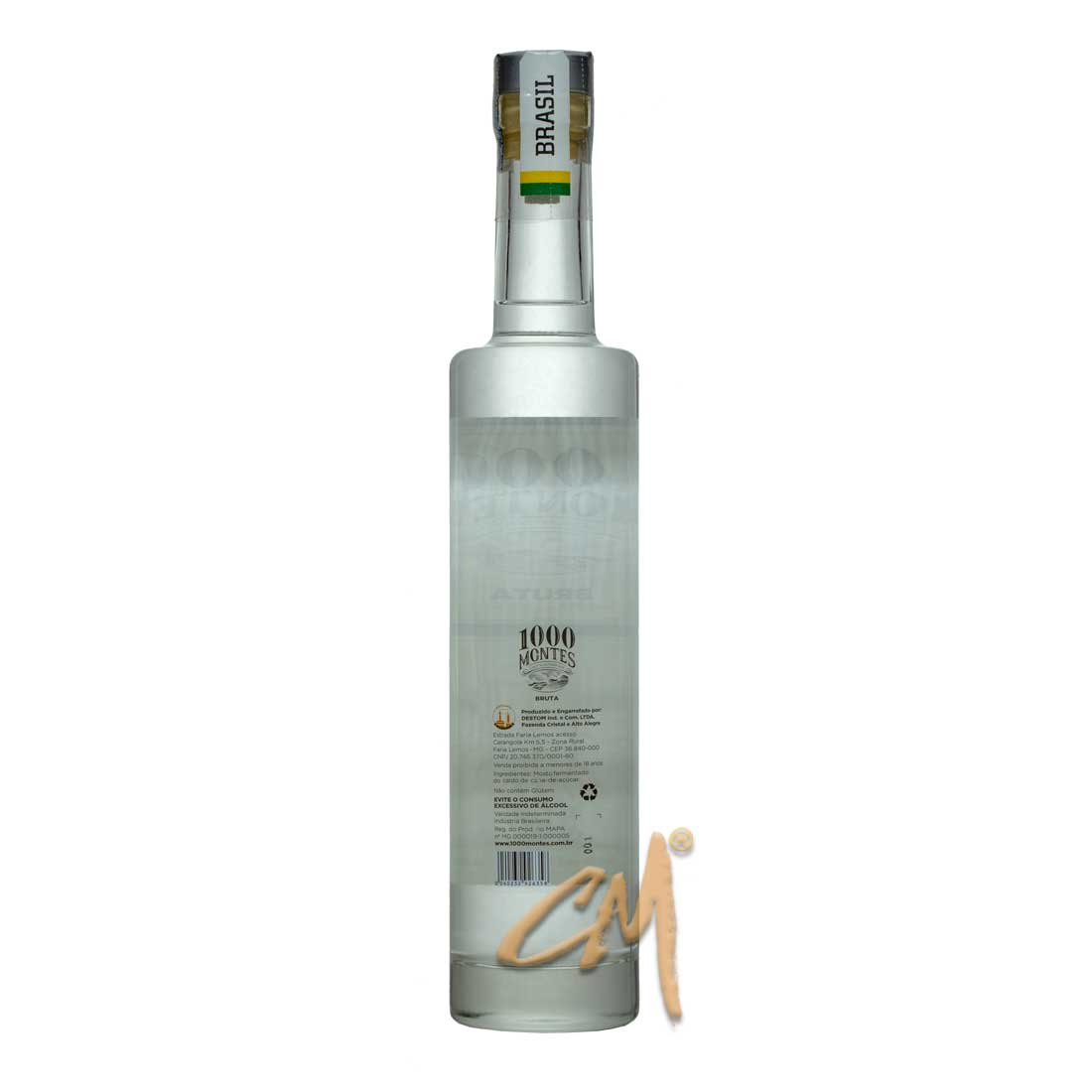 Cachaça 1000 Montes Bruta 500 ml (Faria Lemos - MG)